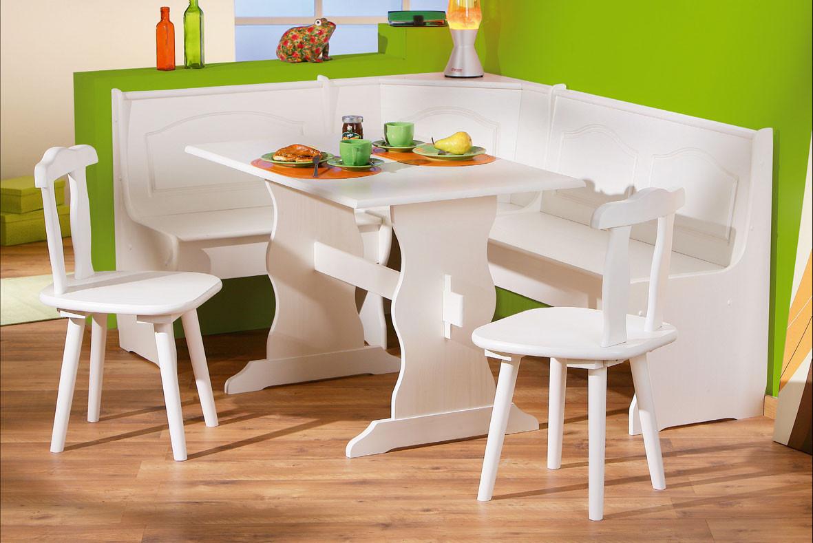 White Kitchen Bench  Corner Bench Kitchen Table Set A Kitchen and Dining Nook