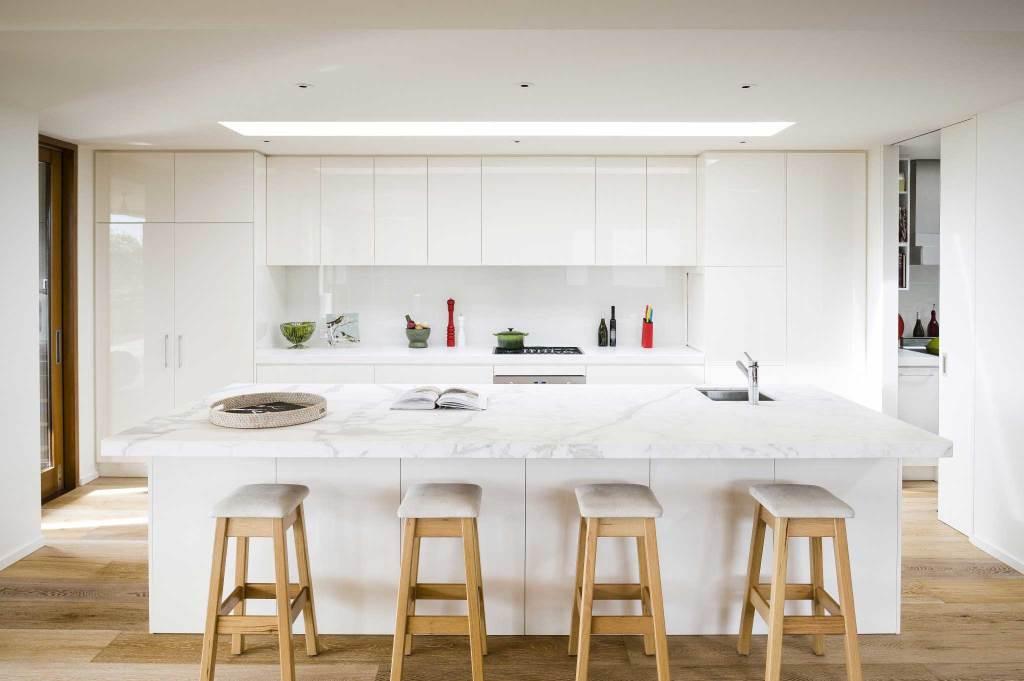 White Kitchen Bench  White Kitchens Rosemount Kitchens