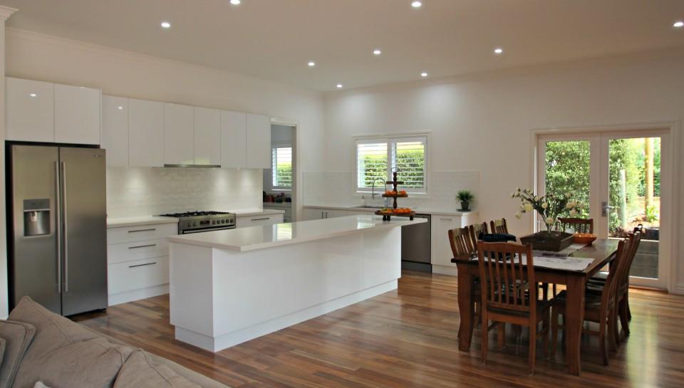 White Kitchen Bench  Kitchen Island and Peninsula Benches Matthews Joinery