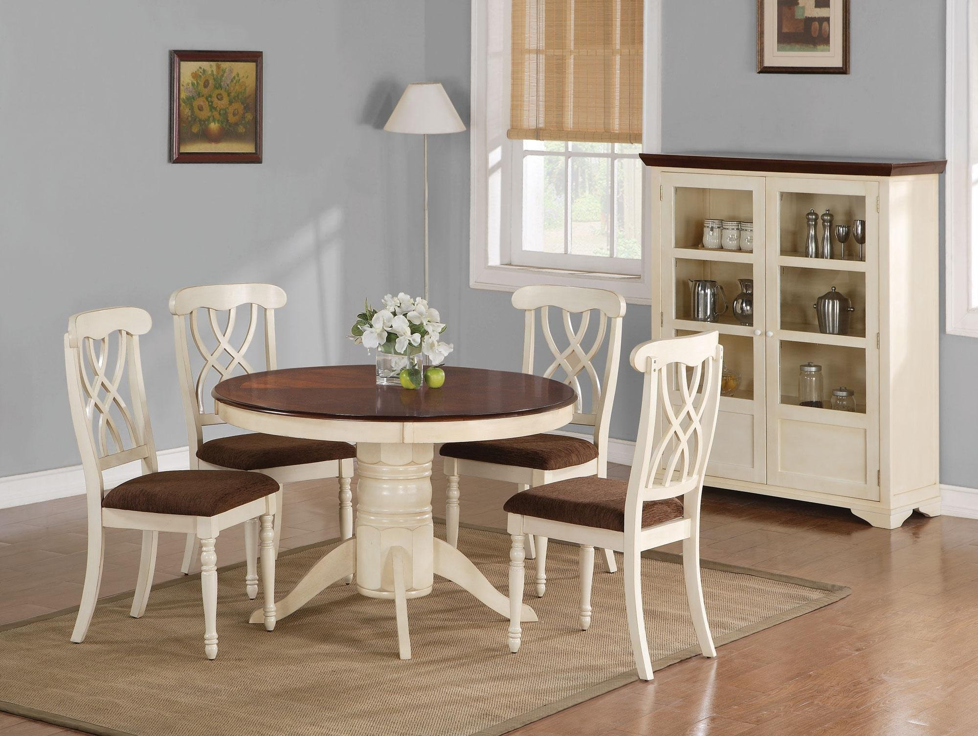 White Kitchen Bench  Beautiful White Round Kitchen Table and Chairs