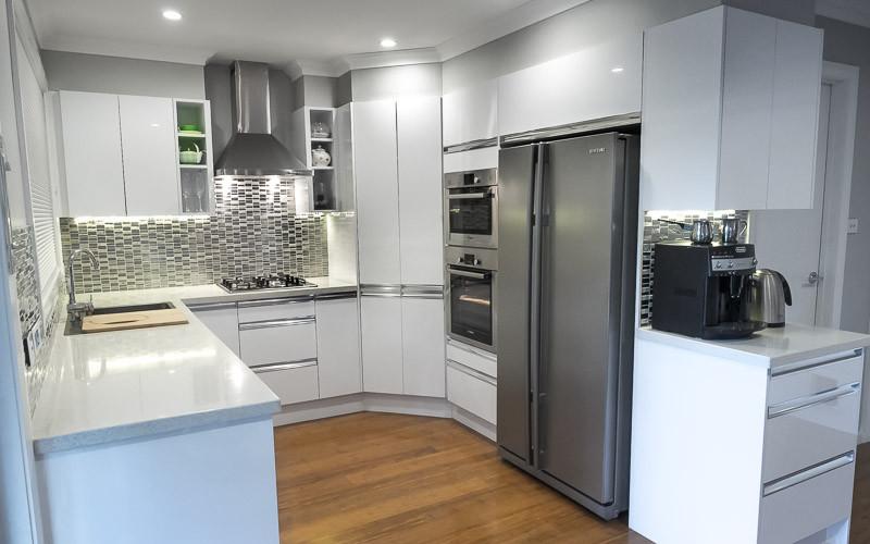 White Kitchen Bench  Concrete Kitchen Benchtops — Concrete Benchtops Canberra