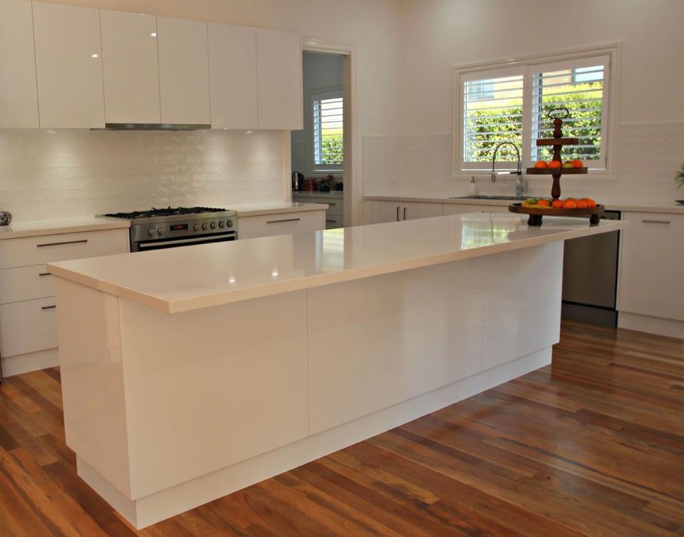 White Kitchen Bench  White Kitchen Island Bench Matthews Joinery
