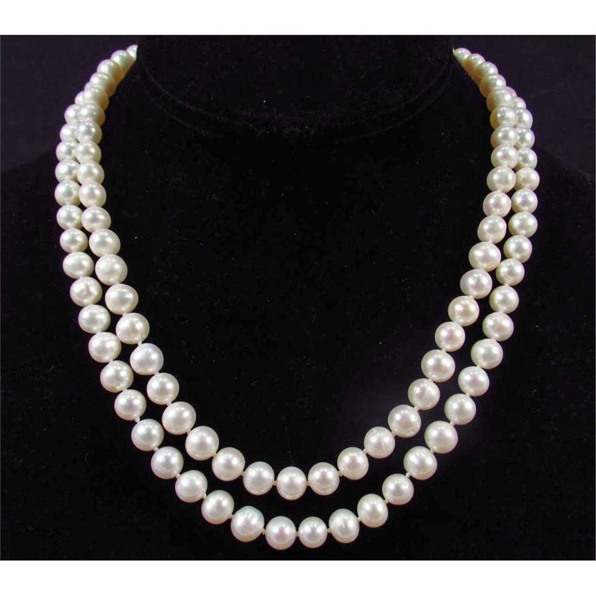 White Pearl Necklace  WHITE PEARL NECKLACE