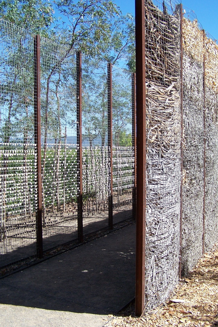 Word Whizzle Backyard  Screen made with leaves between wire mesh